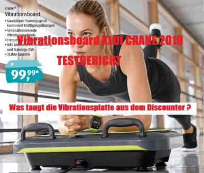 Vibrationsplatte Aldi 2019 Erfahrungen Test - Was taugt